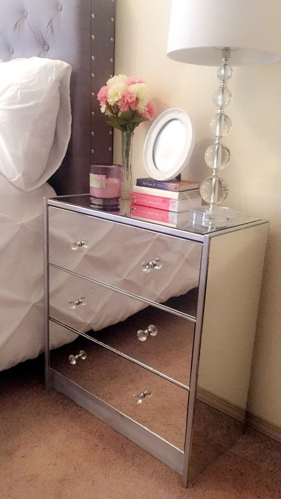 DIY mirror nightstand I made :):