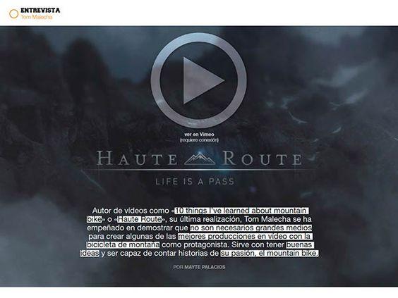 MTBPro nº6   Haute Route con Tom Malecha