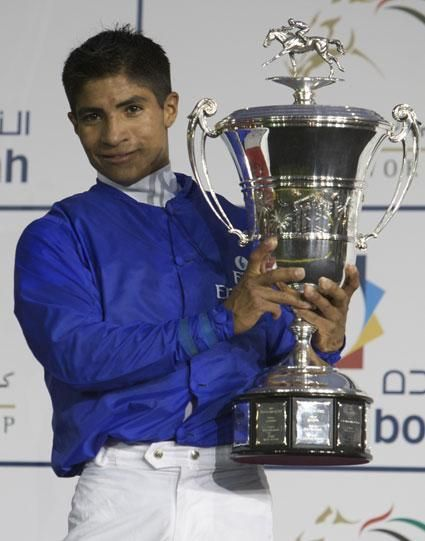 Alan Garcia was Peru's leading apprentice jockey in 2003 and in that same year he began racing in the United States at the Meadowlands Racetrack where he was also the leading apprentice.