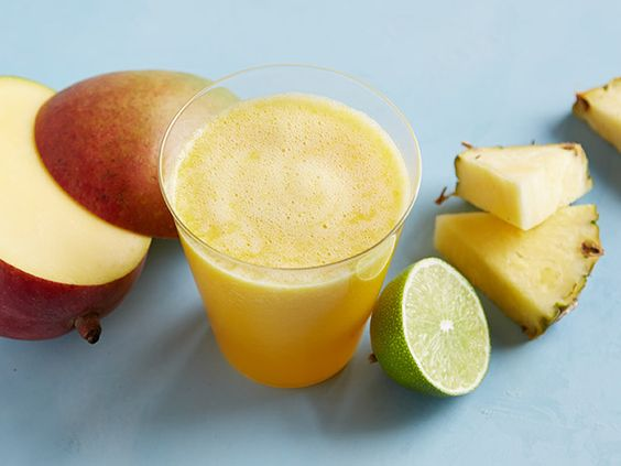 Mango-Pineapple Juice: The pigment in mangoes that makes them that gorgeous orange is part of the carotenoid family and is packed with vitamin C.