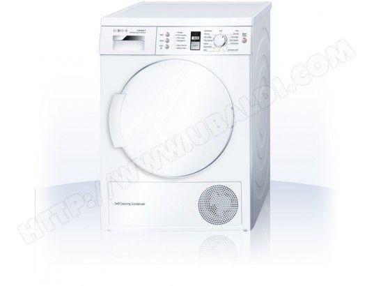 Seche linge Condensation BOSCH WTW84381FF 567€ en stock A++ 7kg 112L condensation