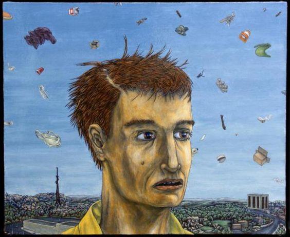 """Orion Wertz's """"Untitled Portrait"""" (2012). Art notes: 4 finalists announced for Hudgens Prize; Mint exhibits folk artist Lucas"""