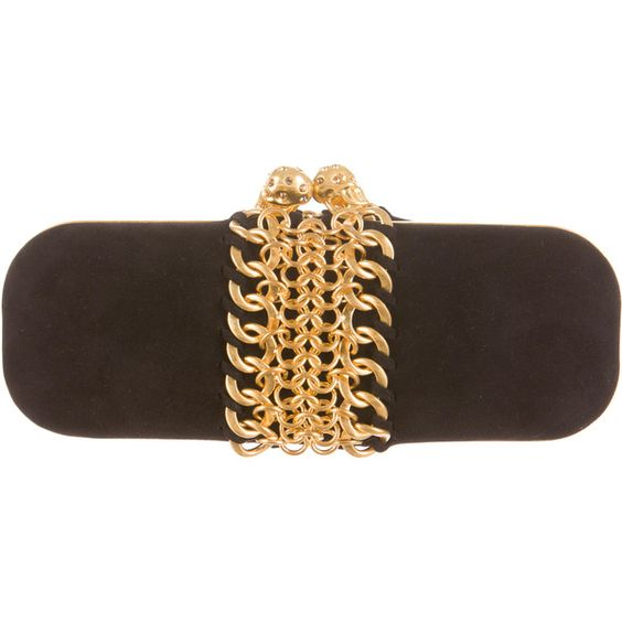 Pre-owned Alexander McQueen Clutch ($1,495) ❤ liked on Polyvore featuring bags, handbags, clutches, black, black suede purse, man bag, black purse, pre owned handbags and handbags & purses