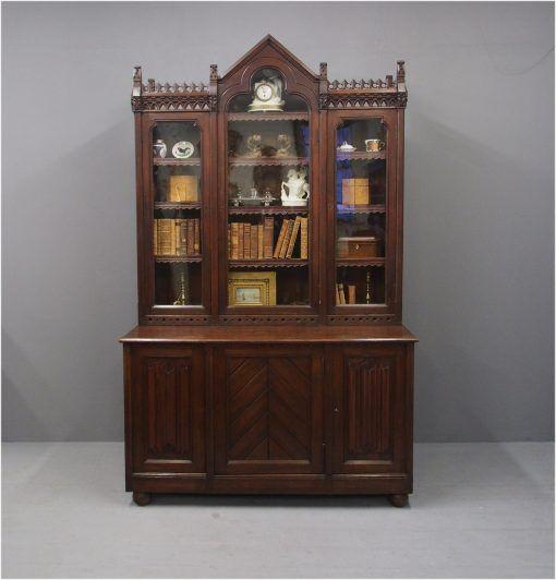 Gothic Scottish Pitch Pine Cabinet Bookcase Pine Cabinets Bookcase Pine Bookcase