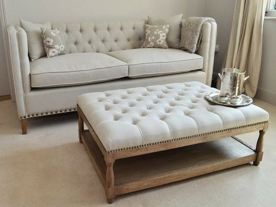Muebles Bonitos Elegantes Tradicionales Upholstered Coffee Tables Tufted Ottoman Coffee Table Ottoman Coffee Table