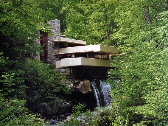 Fallingwater house - Pensylvania EUA by Frank Lloyd Wright