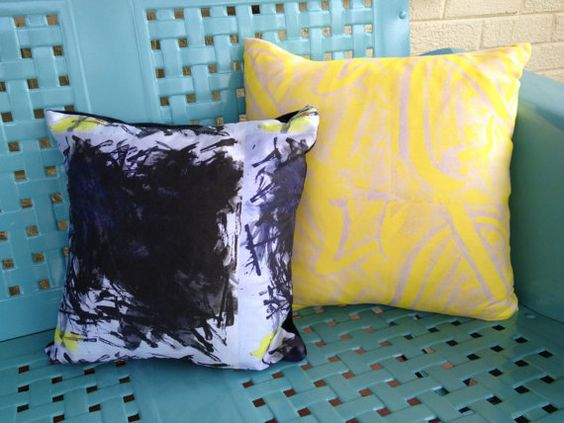 Turning Paintings into Pillows: One x1 CUSTOM by MiraJeanDesigns
