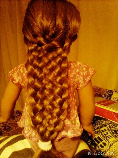 Eleven strand braid. All you need to know is how to do a five strand braid and three strand braid. Did this myself. ~Caroline