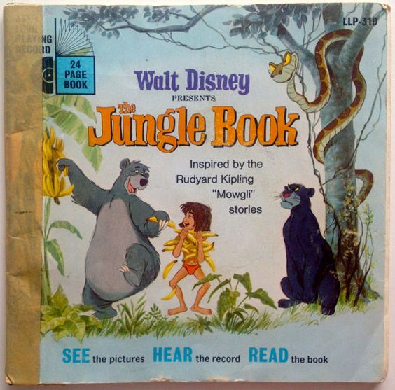 The Jungle Book 7 Vinyl Record Book Disneyland Etsy Jungle Book Disney Presents Jungle Book Disney