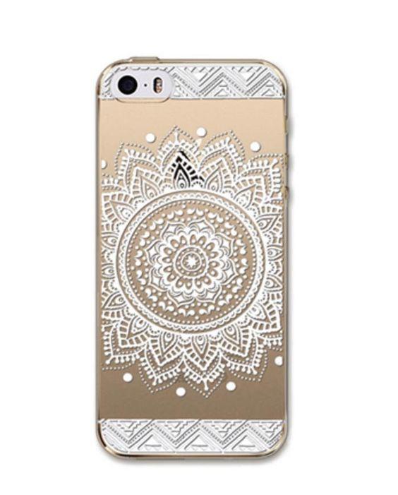 iPhone 5/5S, 6/6S White Henna Case
