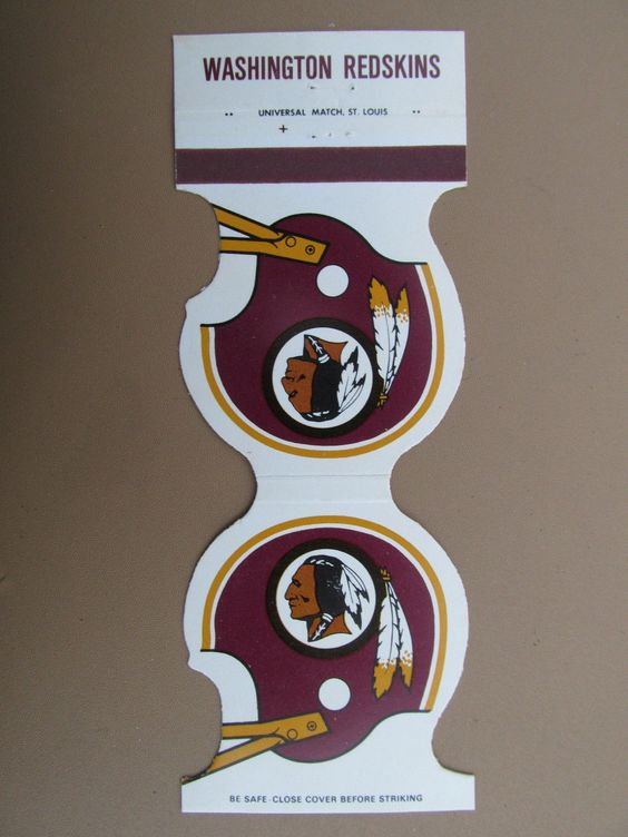 Washington Redskins 1979 Football Schedule Vintage Die-Cut Sport Matchbook Cover - Jewelite