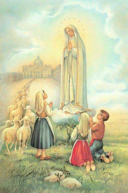 13 De Mayo Dia De La Virgen De Fatima En 2020 Virgen La Virgen