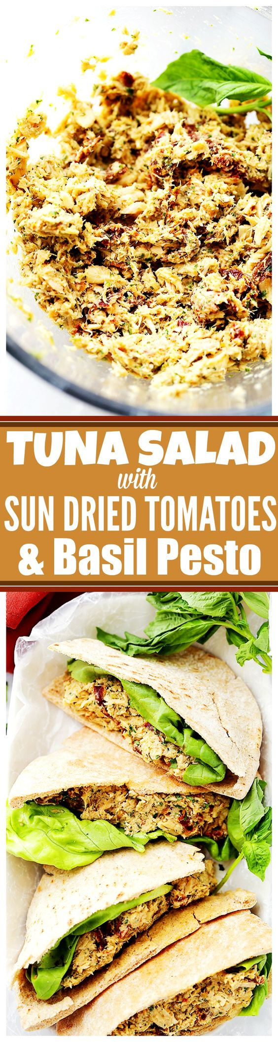 Sun Dried Tomatoes and Basil Pesto Tuna Salad – Combined with ...