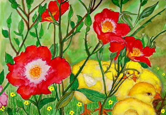 Kücken im Rosenhag