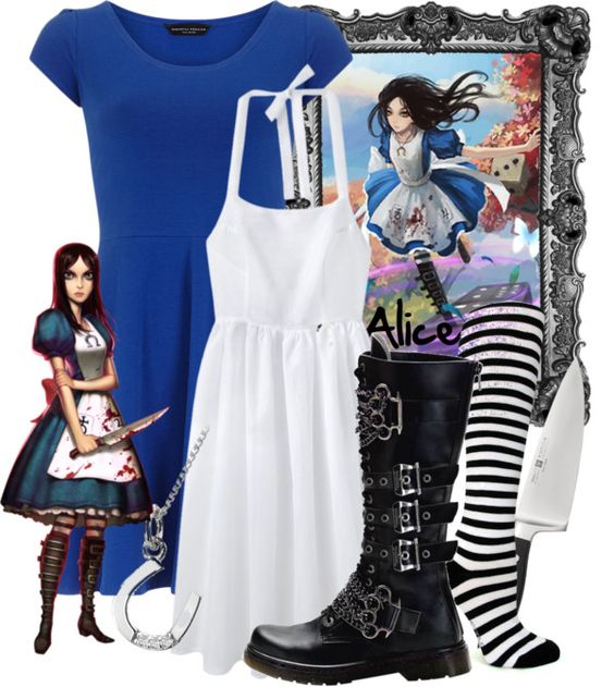 """Alice Madness Returns"" by the-disney-girl ❤ liked on Polyvore:"
