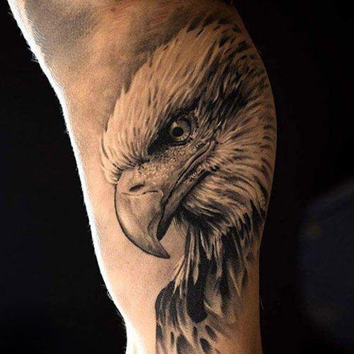 Inner Upper Arm Eagle Tattoo Designs Best Inner Bicep Tattoos For Men Cool In