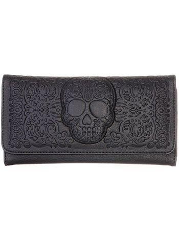 Frightful Filigree Skull Wallet <3 <3 <3