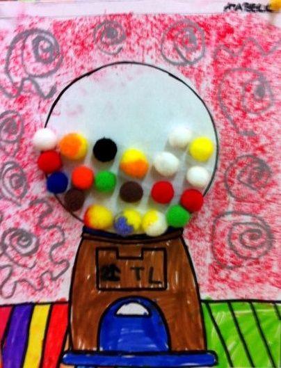 Wayne Thiebaud- pom pom gum balls | Famous Artists Lesson Plans | Pin…