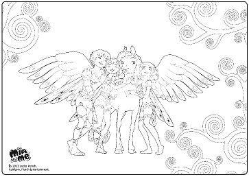 Eenhoorn Onchao Kleurplaat Mia Yuko Mo And Onchao Coloring Page Dibujos