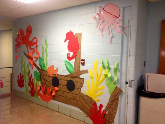 Classroom Decorating Ideas Ocean Theme ~ Under the sea theme classroom ocean pinterest