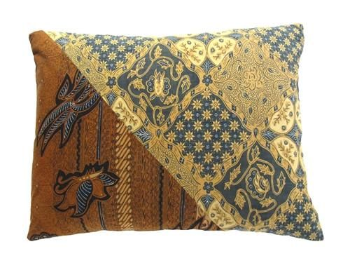 Deconstructed sarongs are beauty reincarnate as exquisite batik pillows. Made with complimentary batiks on each side. #batik #pillow #artisan