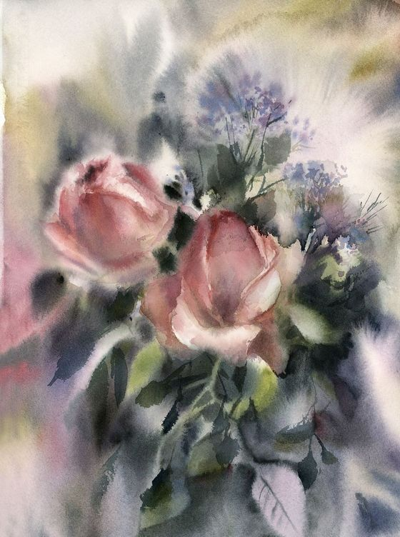 Roses By Sophie Rodionov Watercolor Comment Peindre Des Roses