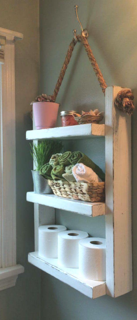 Seil Hangen Regal Holzleiter Regal Ablageboden Bad Lagerung