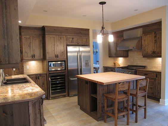 armoire de cuisine en pin rustique recherche google