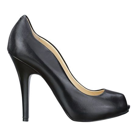 """Scalloped edge peep toe pump.  4 1/2"""" heel with 1/2"""" platform.  This style is available exclusively @ Nine West Stores & ninewest.com."""