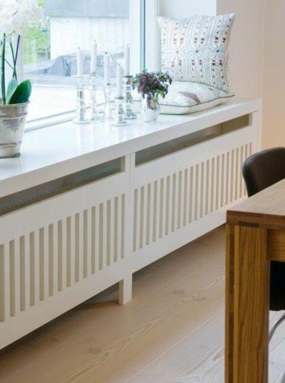 comment cacher un radiateur dans le salon, cacher radiateur design