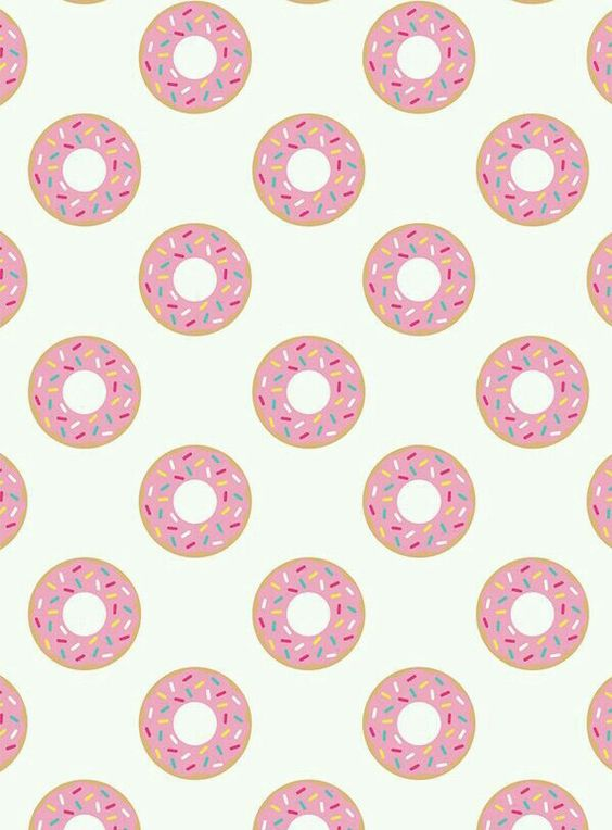 Pink Frosted Donuts w/Sprinkles Wallpaper ♡♡♡ | WALLPAPERS ...