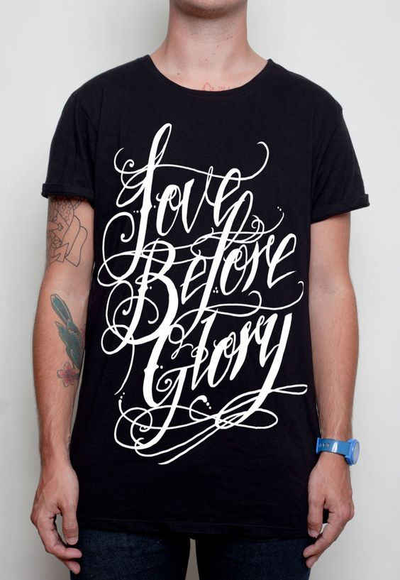 Love Before Glory Script Premium tee Size S