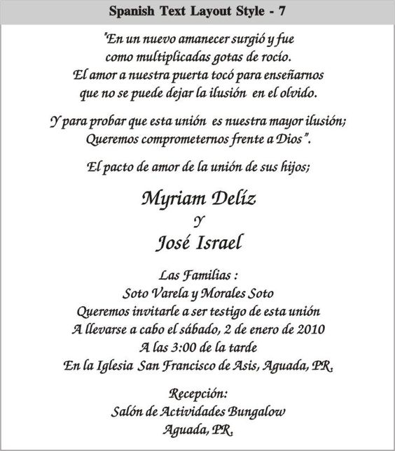 Spanish wedding invitation templates diabetesmangfo cinderella wedding invitations in spanish spanish text layout invitation templates filmwisefo
