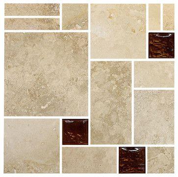 travertine brown glass mosaic kitchen backsplash tile 12