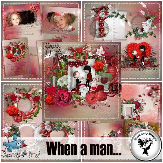 When a man... - Full pack by Black Lady Designs