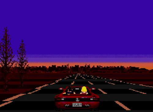 Pixelated Car Driving Flash Game