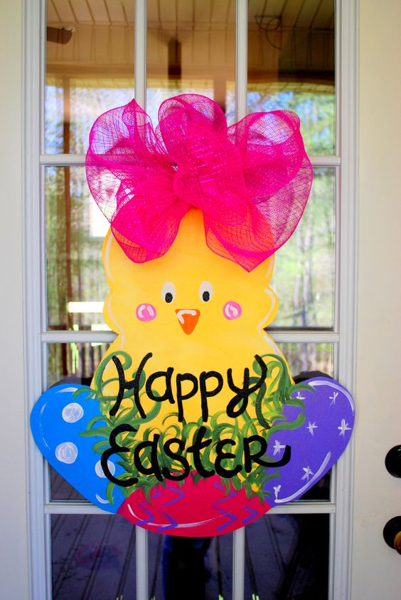 Easter Door Hanger Easter Decoration by LooLeighsCharm on Etsy