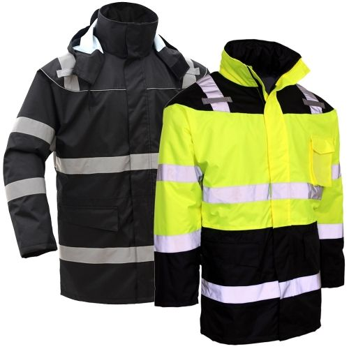 Gss Safety 8501 Class 3 Hivis Fleece Lined Safety Parka Winter Work Jackets Safety Clothing Parka