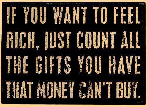 Feel rich.