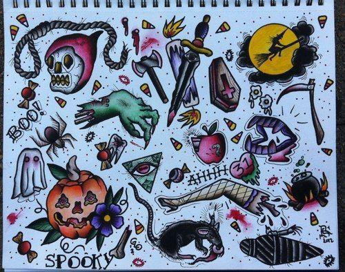 halloween candy tattoos