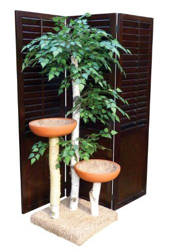 Cat Tree Furniture With Leaves  Trees Cats and Cat tree plans