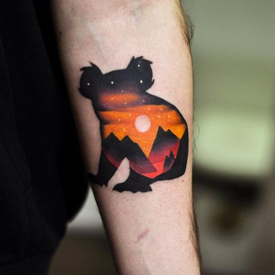 Surreal Koala Tattoo by David Cote - TATTOOBLEND