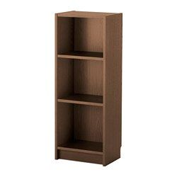 IKEA - BILLY, Bookcase, brown ash veneer, , Narrow shelves help you use