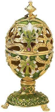 The Petroika Collection: Elena Faberge Style Enameled Egg