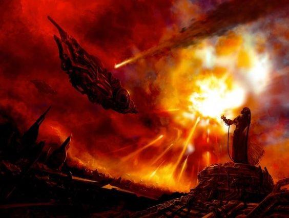 In de oudheid was er een nucleaire oorlog tussen aardbewoners en buitenaardse wezens ?!