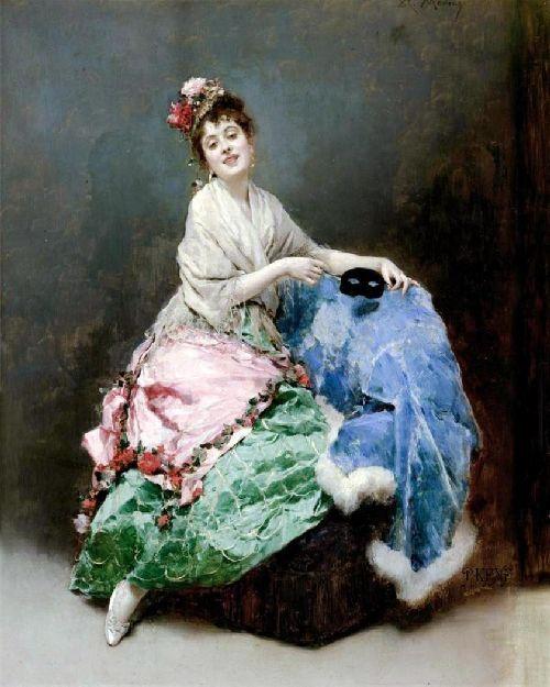 Portrait of a Lady 2 Painting by Raimundo de Madrazo y Garreta | Oil Painting