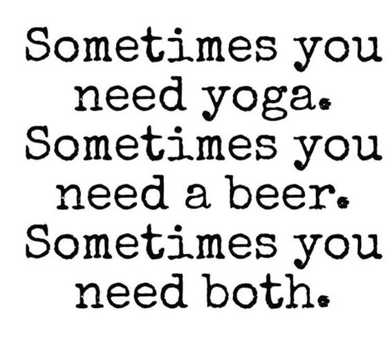 Its about Balance! But don't let the sunny patio beers keep you away from your mat! #yogaeverydamnday: