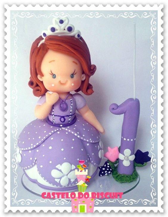 Princesa Topo de bolo com vela http://www.elo7.com.br/princesa-com-vela/dp/507DD9