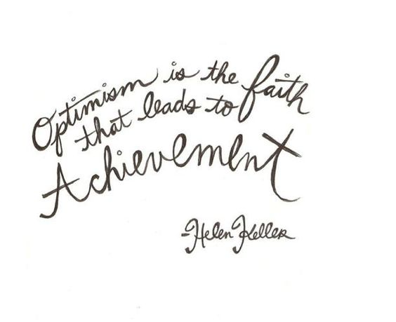 Helen Keller got it right!