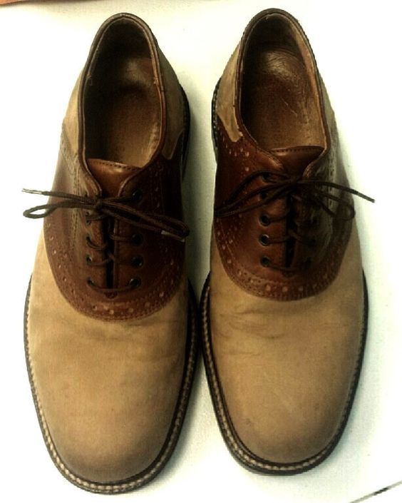 Johnston & Murphy Passport- Brown/Tan Suede Oxford Shoes- size 9.5M
